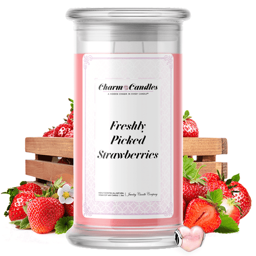 Freshly Picked Strawberries | Charm Candle®-Charm Candles®-The Official Website of Jewelry Candles - Find Jewelry In Candles!