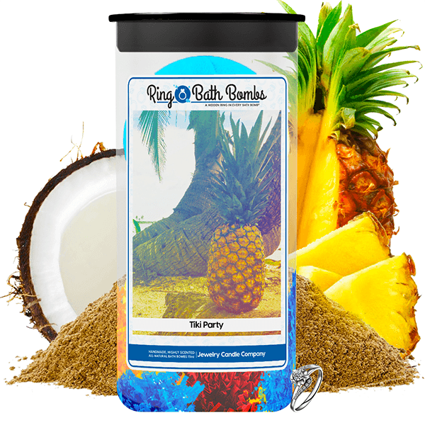 Tiki Party Ring Bath Bombs Twin Pack