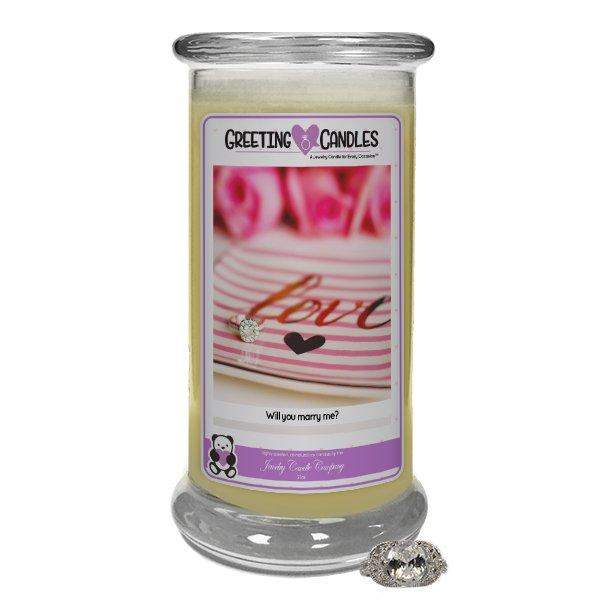 Will You Marry Me? | Jewelry Greeting Candle-Will You Marry Me?-The Official Website of Jewelry Candles - Find Jewelry In Candles!