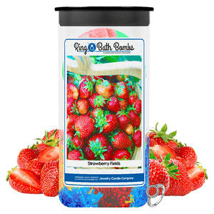 Strawberry Fields Ring Bath Bombs Twin Pack