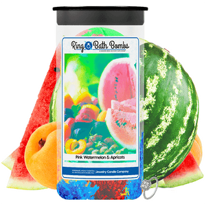 Pink Watermelon & Apricots Ring Bath Bombs Twin Pack