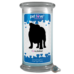 I Love My Bulldog! | Pet Love Candle®-Pet Love®-The Official Website of Jewelry Candles - Find Jewelry In Candles!