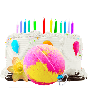 Birthday Cake | Single Ring Bath Bomb®-Single Ring Bath Bomb®-The Official Website of Jewelry Candles - Find Jewelry In Candles!