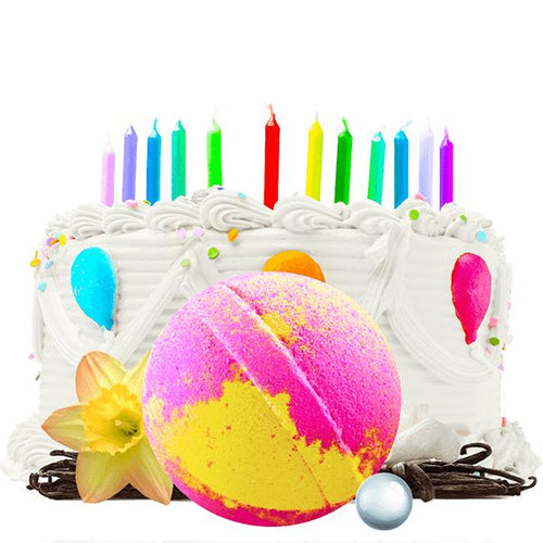 Birthday Cake | Single Pearl Party Bath Bomb®-Pearl Party Bath Bomb-The Official Website of Jewelry Candles - Find Jewelry In Candles!