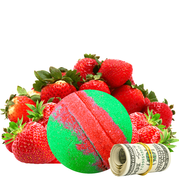 Strawberry Fields | Single Cash Bath Bomb®-Cash Bath Bombs-The Official Website of Jewelry Candles - Find Jewelry In Candles!
