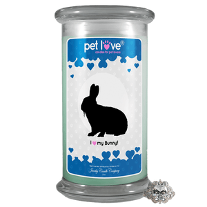 I Love My Bunny! | Pet Love Candle®-Pet Love®-The Official Website of Jewelry Candles - Find Jewelry In Candles!