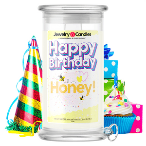 Happy Birthday Honey! Happy Birthday Jewelry Candle