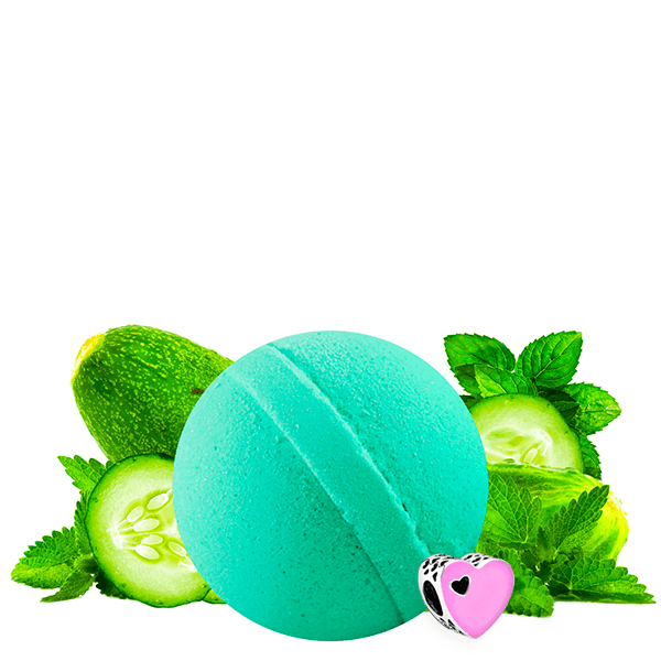 Cucumber Mint | Single Charm Bath Bomb®-Charm Bath Bomb-The Official Website of Jewelry Candles - Find Jewelry In Candles!