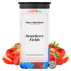 Strawberry Fields Charm Bath Bombs Twin Pack