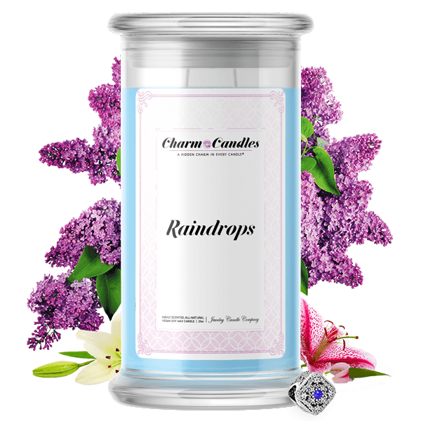 Raindrops | Charm Candle®-Charm Candles®-The Official Website of Jewelry Candles - Find Jewelry In Candles!