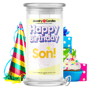 Happy Birthday Son! Happy Birthday Jewelry Candle