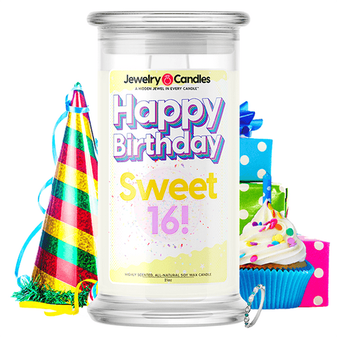 Happy Birthday Sweet 16! Happy Birthday Jewelry Candle