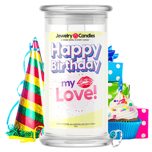 Happy Birthday My Love! Happy Birthday Jewelry Candle