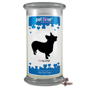 I Love My Corgi! | Pet Love Candle®-Pet Love®-The Official Website of Jewelry Candles - Find Jewelry In Candles!