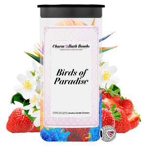 Birds of Paradise Charm Bath Bombs Twin Pack