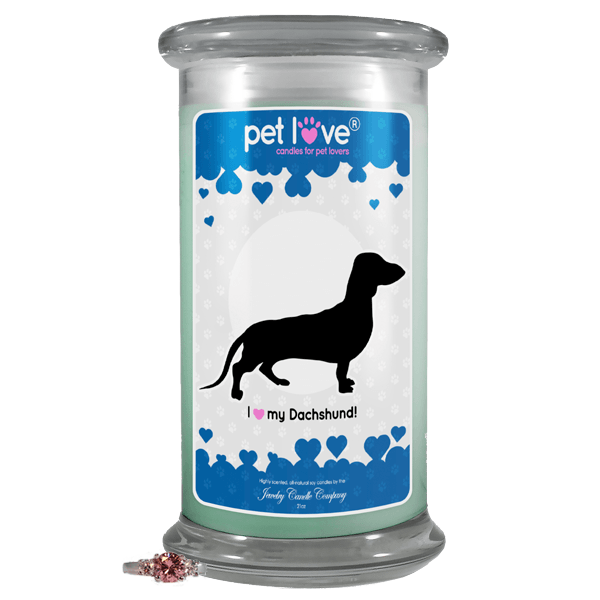 I Love My Dachshund! | Pet Love Candle®-Pet Love®-The Official Website of Jewelry Candles - Find Jewelry In Candles!