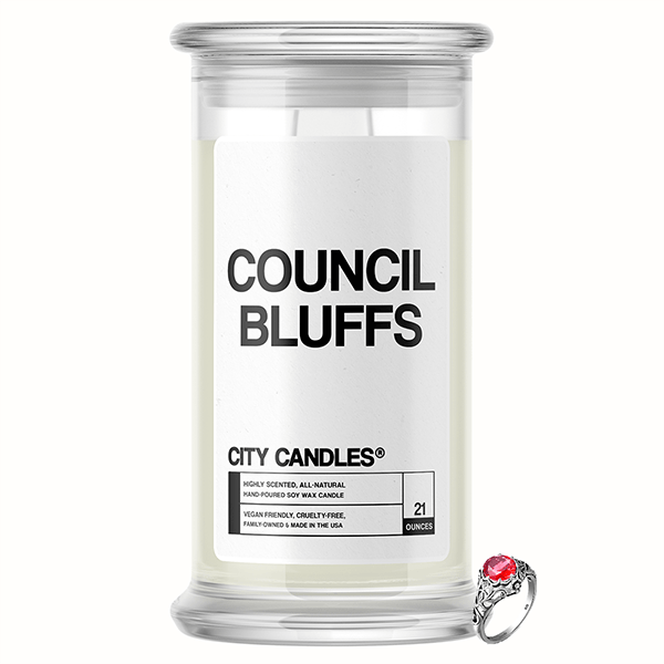 Council Bluffs City Jewelry Candle