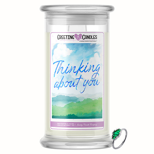 Thinking About You Jewelry Greeting Candle