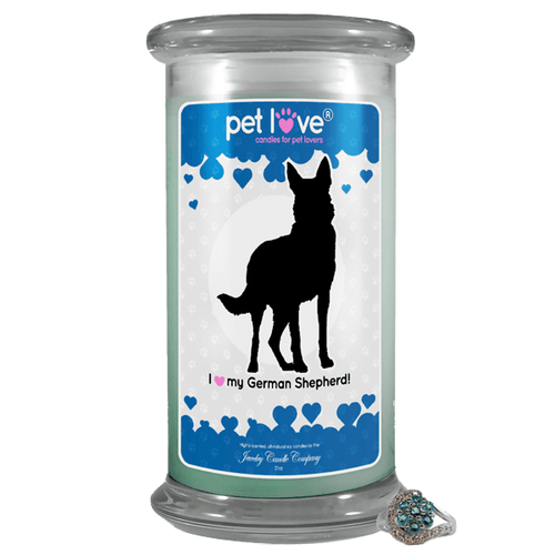 I Love My German Shepherd! | Pet Love Candle®-Pet Love®-The Official Website of Jewelry Candles - Find Jewelry In Candles!