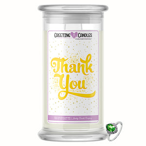 Thank You Jewelry Greeting Candle