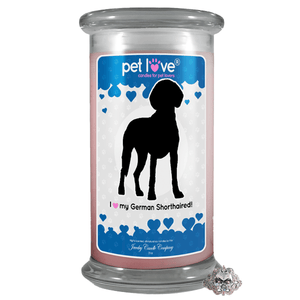 I Love My German Shorthaired! | Pet Love Candle®-Pet Love®-The Official Website of Jewelry Candles - Find Jewelry In Candles!