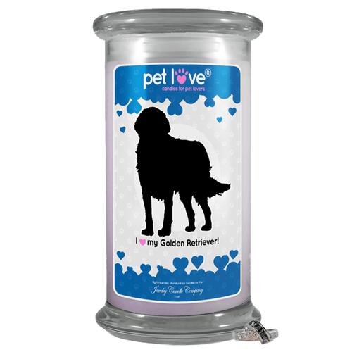 I Love My Golden Retriever! | Pet Love Candle®-Pet Love®-The Official Website of Jewelry Candles - Find Jewelry In Candles!