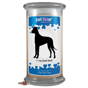 I Love My Great Dane! | Pet Love Candle®-Pet Love®-The Official Website of Jewelry Candles - Find Jewelry In Candles!