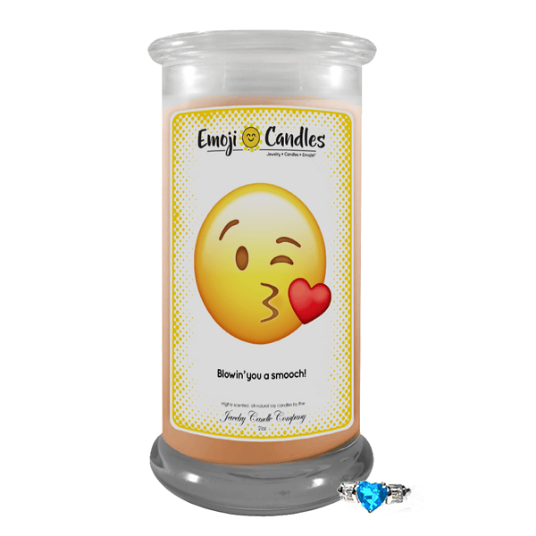 Blowin' You A Smooch! | Emoji Candle®-Emoji Candles-The Official Website of Jewelry Candles - Find Jewelry In Candles!