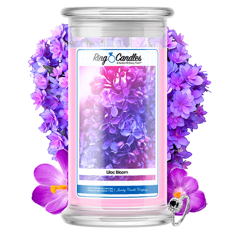 Lilac Bloom Ring Candle