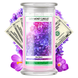 Lilac Bloom Cash Money Candle