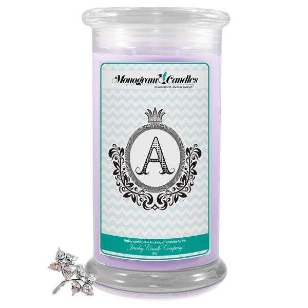 Letter A Monogram Candles-Monogram Candles-The Official Website of Jewelry Candles - Find Jewelry In Candles!