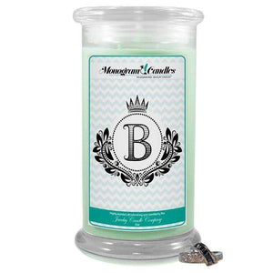 Letter B Monogram Candles-Monogram Candles-The Official Website of Jewelry Candles - Find Jewelry In Candles!