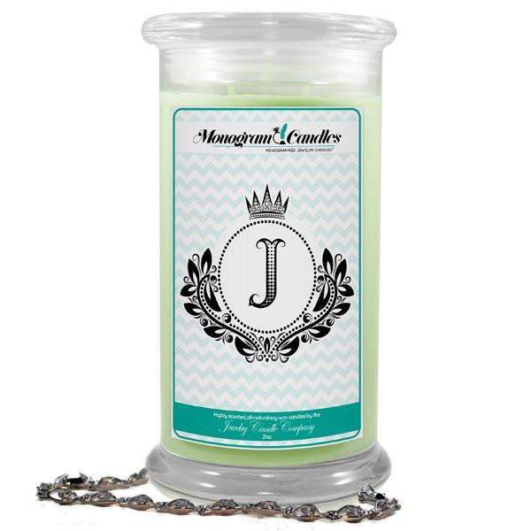 Letter J Monogram Candles-Monogram Candles-The Official Website of Jewelry Candles - Find Jewelry In Candles!