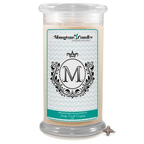 Letter M Monogram Candles-Monogram Candles-The Official Website of Jewelry Candles - Find Jewelry In Candles!