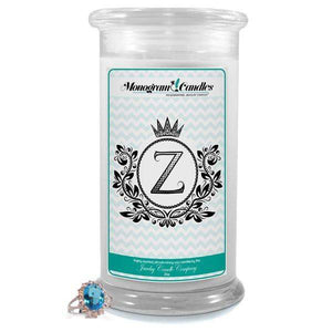Letter Z Monogram Candles-Monogram Candles-The Official Website of Jewelry Candles - Find Jewelry In Candles!