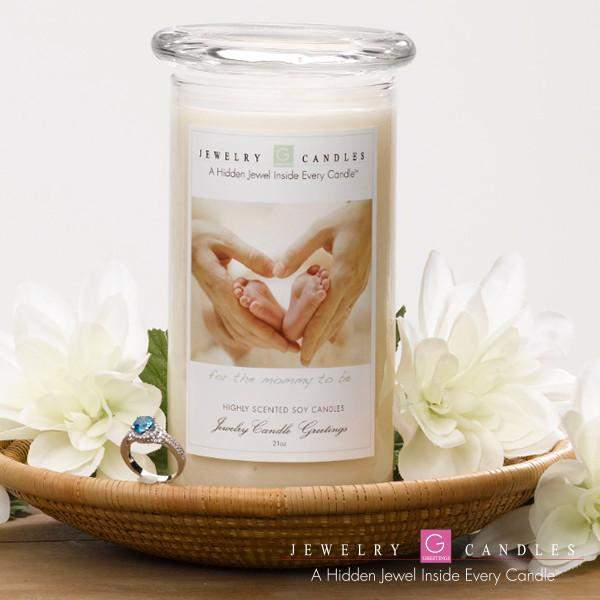 Mommy To Be Jewelry Greeting Candle
