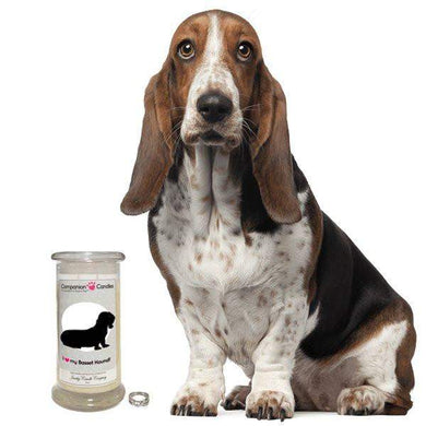 I Love My Basset Hound! - Companion Candles-Companion Candles-The Official Website of Jewelry Candles - Find Jewelry In Candles!