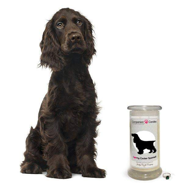 I Love My Cocker Spaniel! - Companion Candles-Companion Candles-The Official Website of Jewelry Candles - Find Jewelry In Candles!