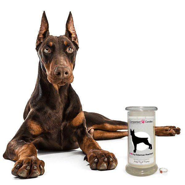 I Love My Doberman Pinscher! - Companion Candles-Companion Candles-The Official Website of Jewelry Candles - Find Jewelry In Candles!