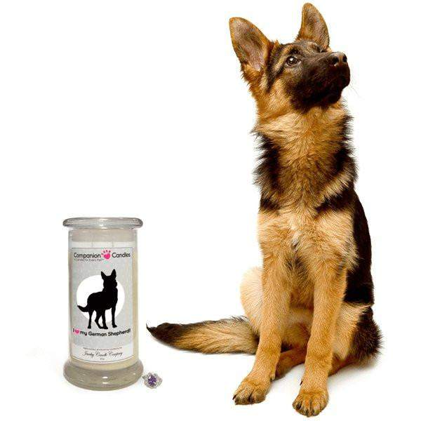 I Love My German Shepherd! - Companion Candles-Companion Candles-The Official Website of Jewelry Candles - Find Jewelry In Candles!