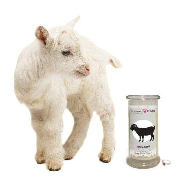 I Love My Goat! - Companion Candles-Companion Candles-The Official Website of Jewelry Candles - Find Jewelry In Candles!