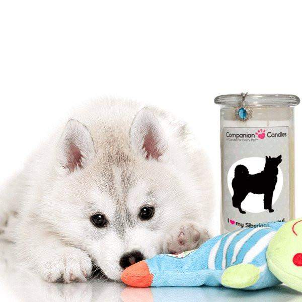 I Love My Siberian Husky! - Companion Candles-Companion Candles-The Official Website of Jewelry Candles - Find Jewelry In Candles!