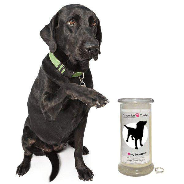 I Love My Labrador! - Companion Candles-Companion Candles-The Official Website of Jewelry Candles - Find Jewelry In Candles!