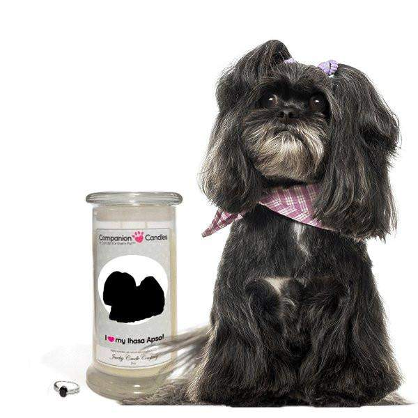 I Love My Lhasa Apso! - Companion Candles-Companion Candles-The Official Website of Jewelry Candles - Find Jewelry In Candles!