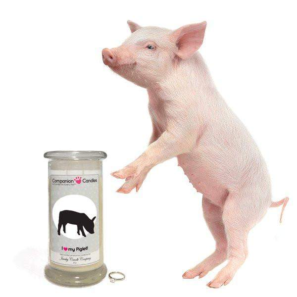 I Love My Piglet! - Companion Candles-Companion Candles-The Official Website of Jewelry Candles - Find Jewelry In Candles!