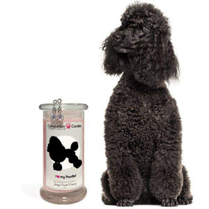 I Love My Poodle! - Companion Candles-Companion Candles-The Official Website of Jewelry Candles - Find Jewelry In Candles!