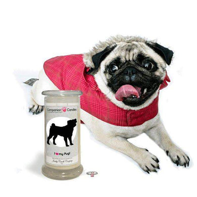 I Love My Pug! - Companion Candles-Companion Candles-The Official Website of Jewelry Candles - Find Jewelry In Candles!