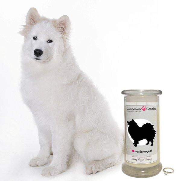 I Love My Samoyed! - Companion Candles-Companion Candles-The Official Website of Jewelry Candles - Find Jewelry In Candles!