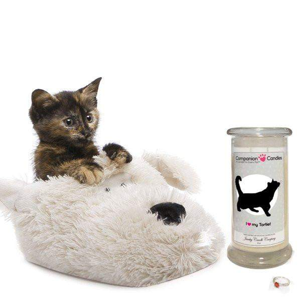 I Love My Tortoiseshell Cat! - Companion Candles-Companion Candles-The Official Website of Jewelry Candles - Find Jewelry In Candles!