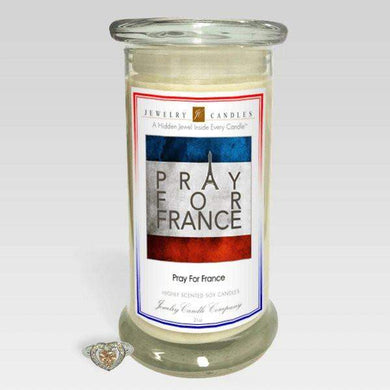 Pray For France - Jewelry Greeting Candles-Congratulations! - Jewelry Greeting Candles-The Official Website of Jewelry Candles - Find Jewelry In Candles!